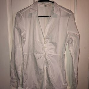 White Banana Republic Button Down with Twist